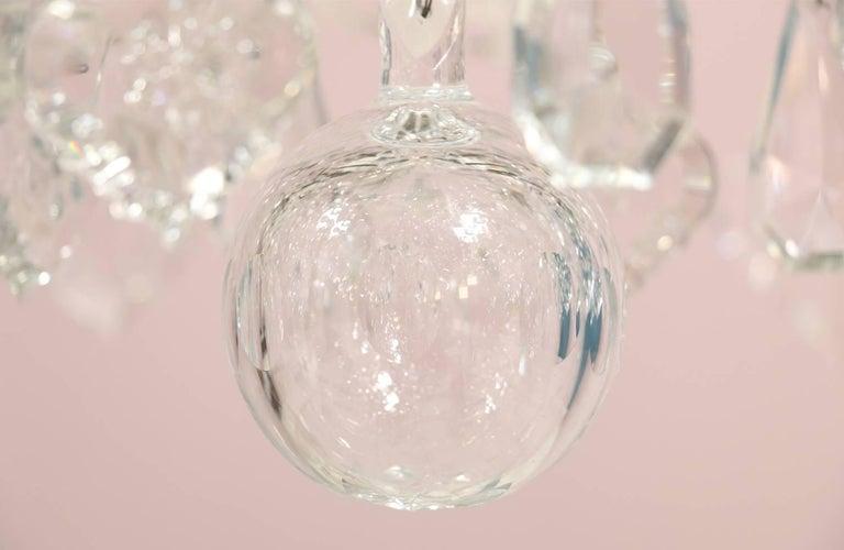 Monumental Italian Crystal Chandelier For Sale 5
