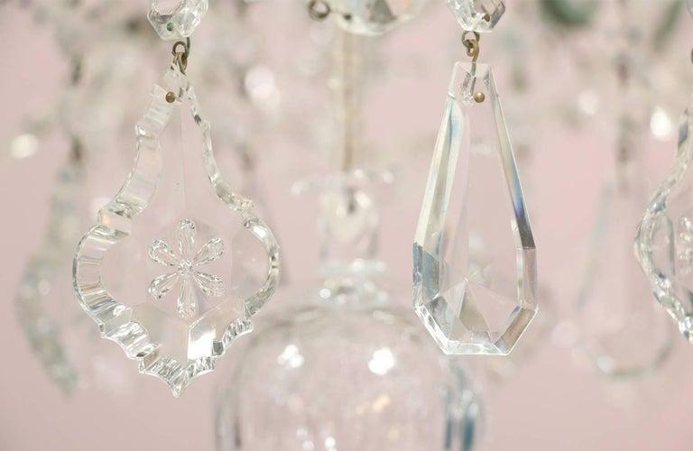 Monumental Italian Crystal Chandelier For Sale 6