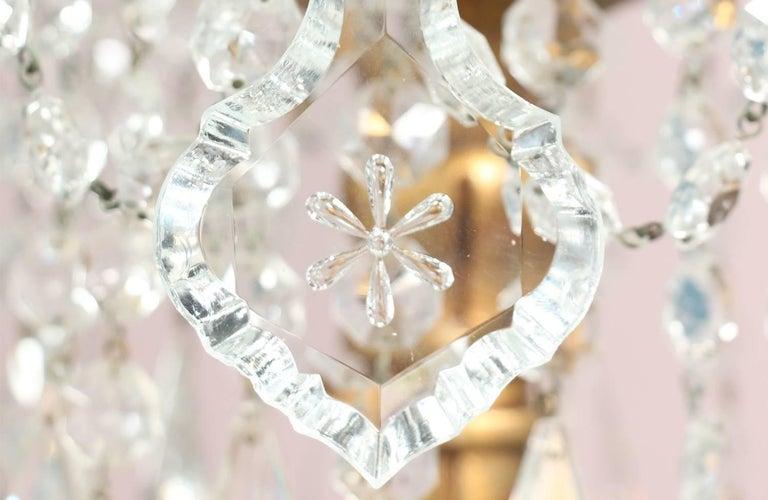Monumental Italian Crystal Chandelier For Sale 7