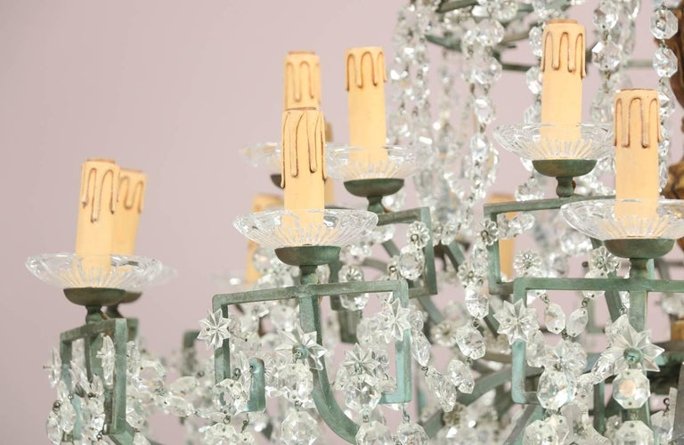 Monumental Italian Crystal Chandelier In Good Condition For Sale In Los Angeles, CA