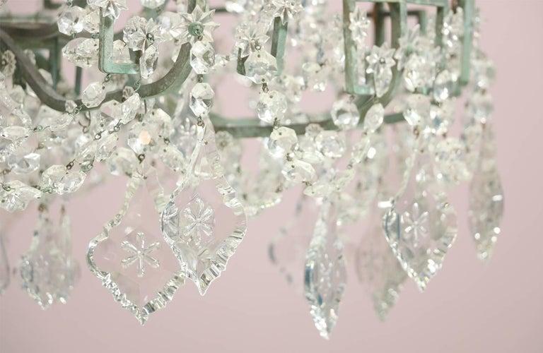 Monumental Italian Crystal Chandelier For Sale 4