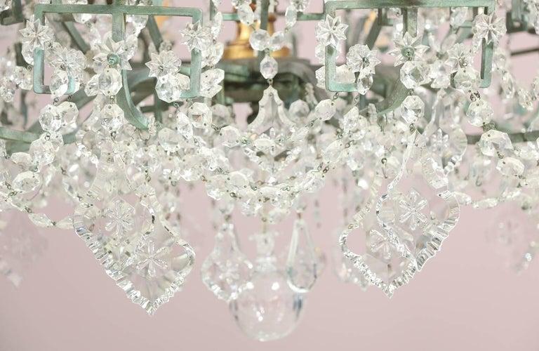 Mid-20th Century Monumental Italian Crystal Chandelier For Sale