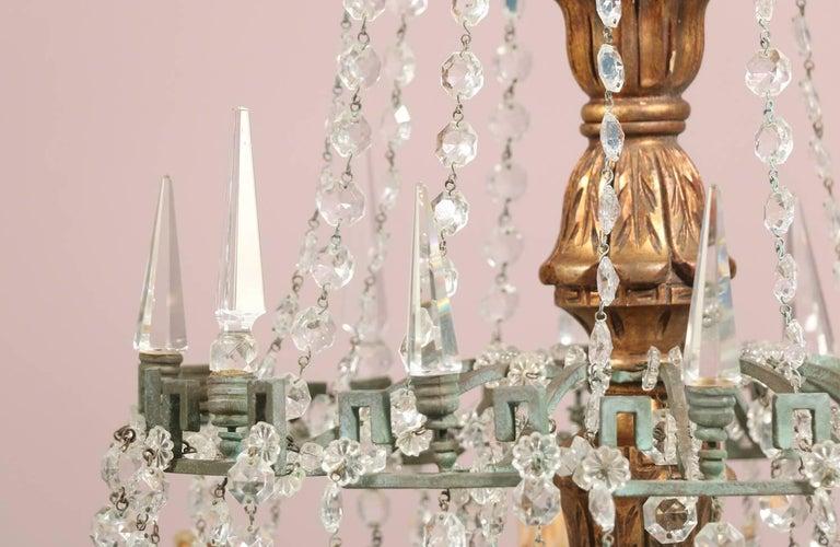 Monumental Italian Crystal Chandelier For Sale 1