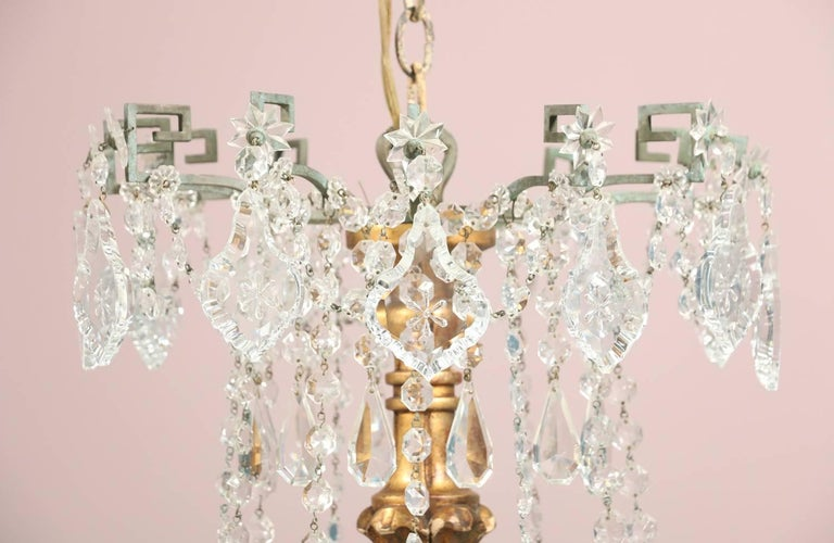 Neoclassical Monumental Italian Crystal Chandelier For Sale