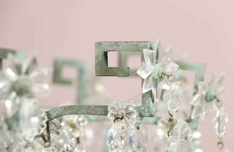 Monumental Italian Crystal Chandelier For Sale 2
