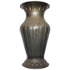 Monumental Italian Hammered Copper Vase, Art Deco, 1920s