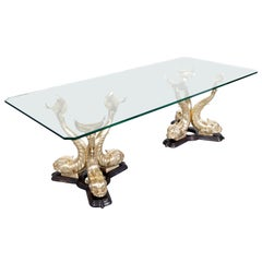 Monumental Italian Koi Fish Dining Table