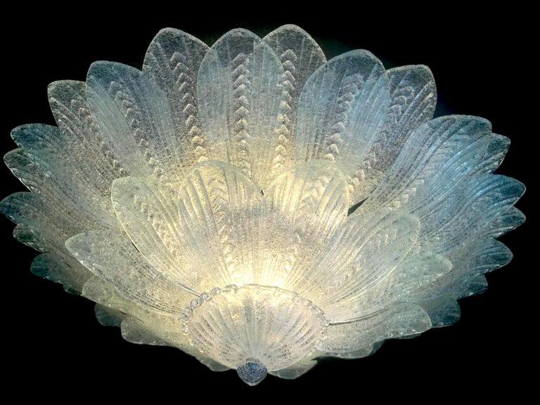 Monumental Italian Murano Glass Ceiling Light or Flush Mount For Sale 4