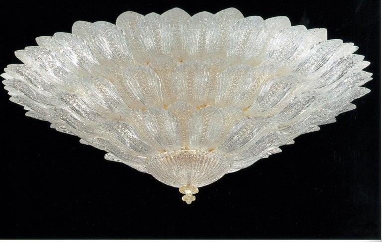 Monumental Italian Murano Glass Ceiling Light or Flush Mount For Sale 6