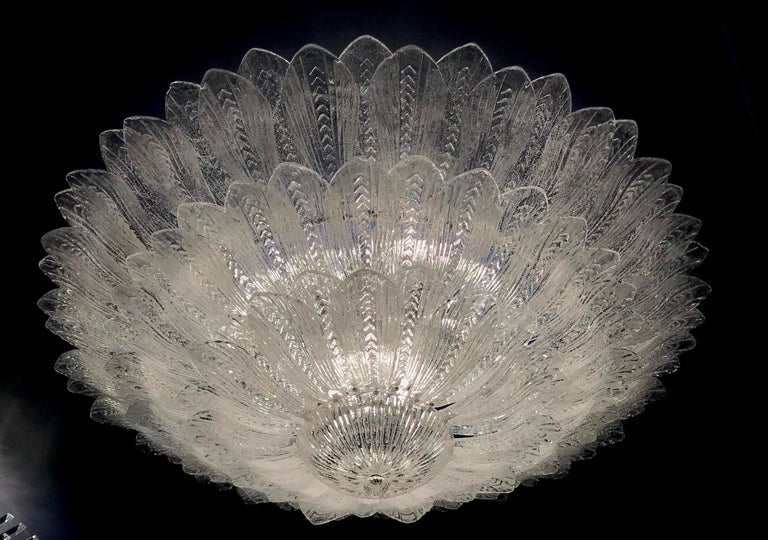 Monumental Italian Murano Glass Ceiling Light or Flush Mount In New Condition For Sale In Rome, IT