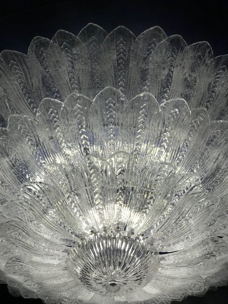 Contemporary Monumental Italian Murano Glass Ceiling Light or Flush Mount For Sale