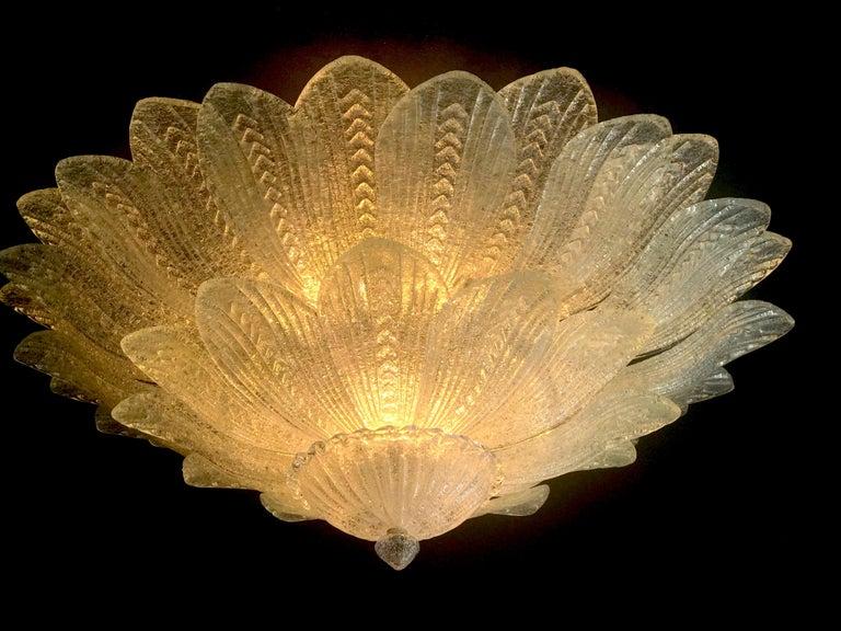 Monumental Italian Murano Glass Ceiling Light or Flush Mount For Sale 3
