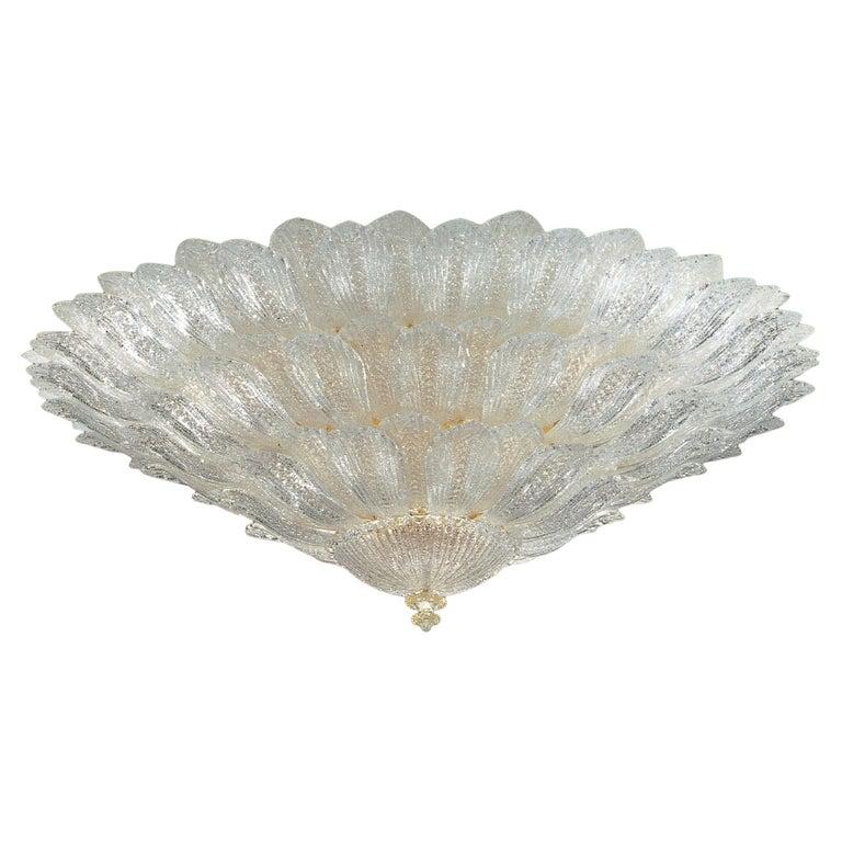 Monumental Italian Murano Glass Ceiling Light or Flush Mount For Sale