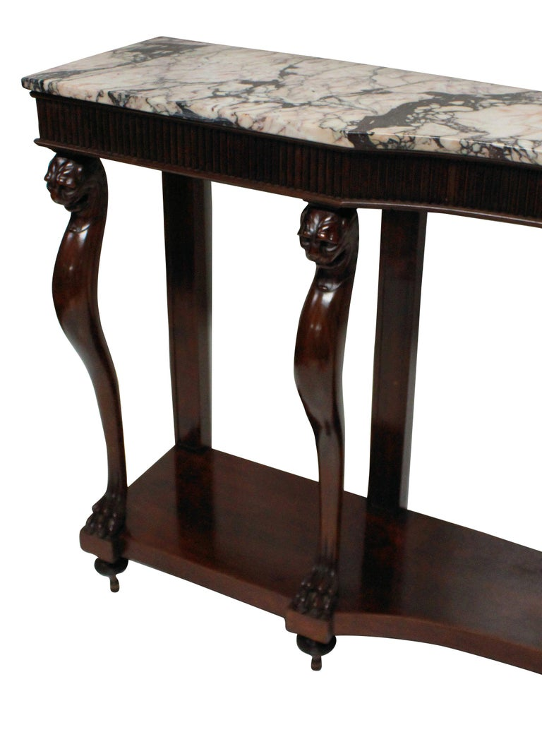 Monumental Italian Neoclassical Marble-Top Console Table 2