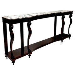Monumental Italian Neoclassical Marble-Top Console Table