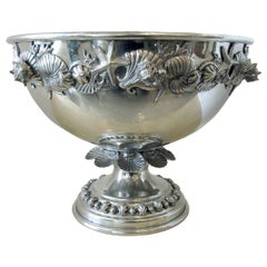 Monumental Italian Pewter Centerpiece /Punch Bowl, Richard Cipolla