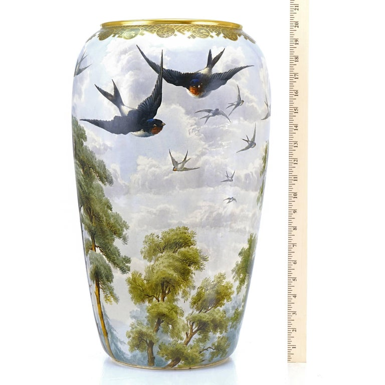 Late 19th Century Monumental Japanese Aesthetic Vase For Sale