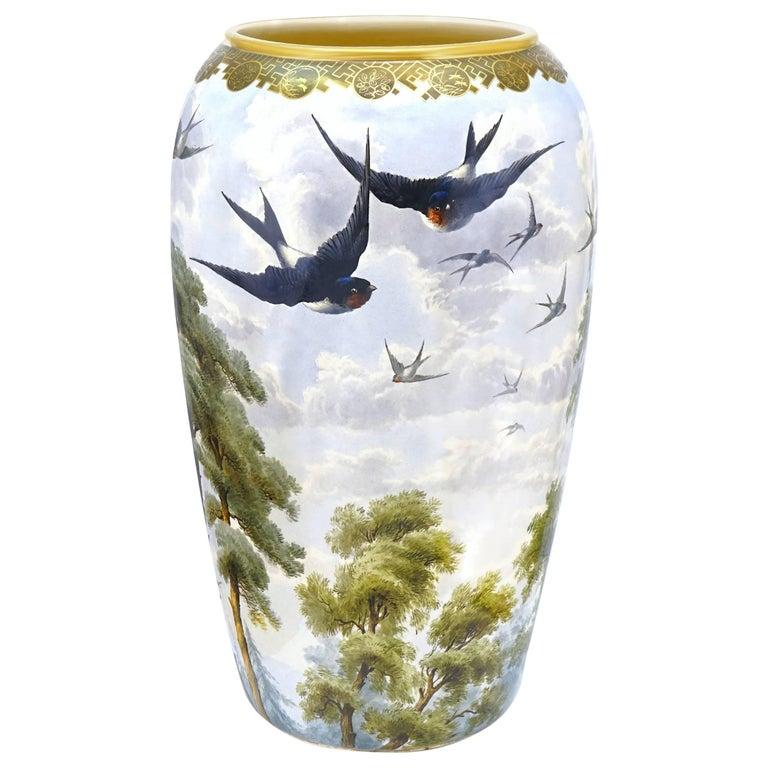 Monumental Japanese Aesthetic Vase For Sale