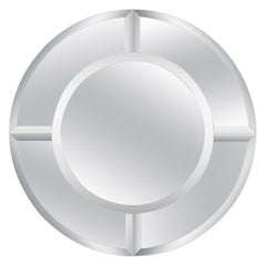Monumental Karl Springer Saturn Mirror