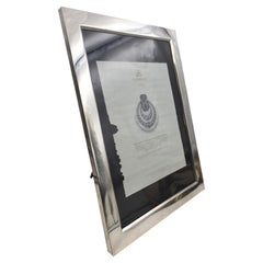 Monumental Lebkuecher Hand Made Sterling Silver Early 20th Century Picture Frame