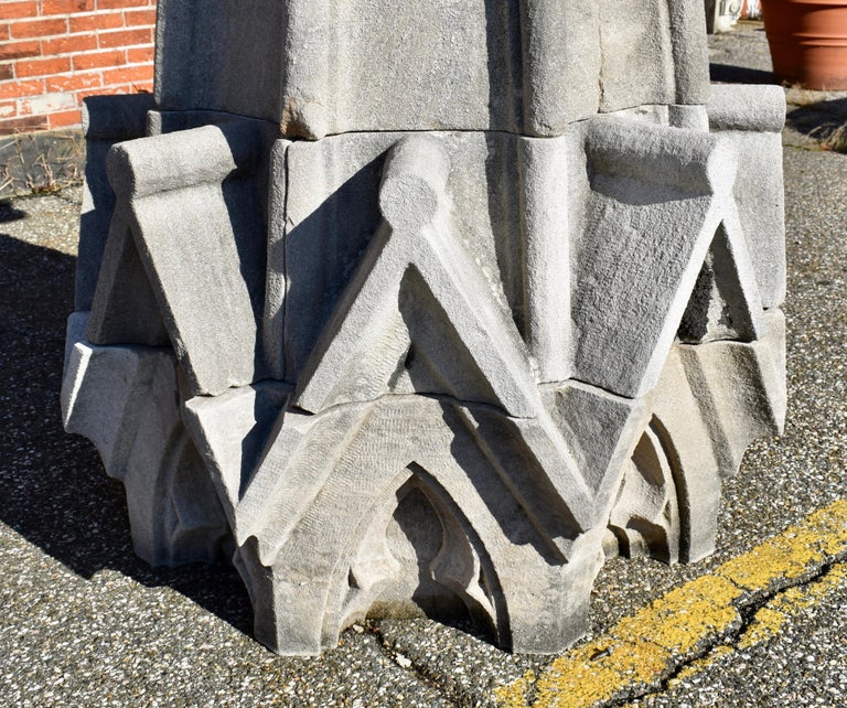 American Monumental Limestone Cathedral Spires For Sale