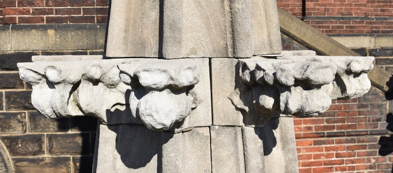 Hand-Carved Monumental Limestone Cathedral Spires For Sale