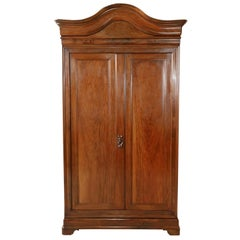 Monumental Louis Philippe Period Solid Walnut Lyonnaise Armoire