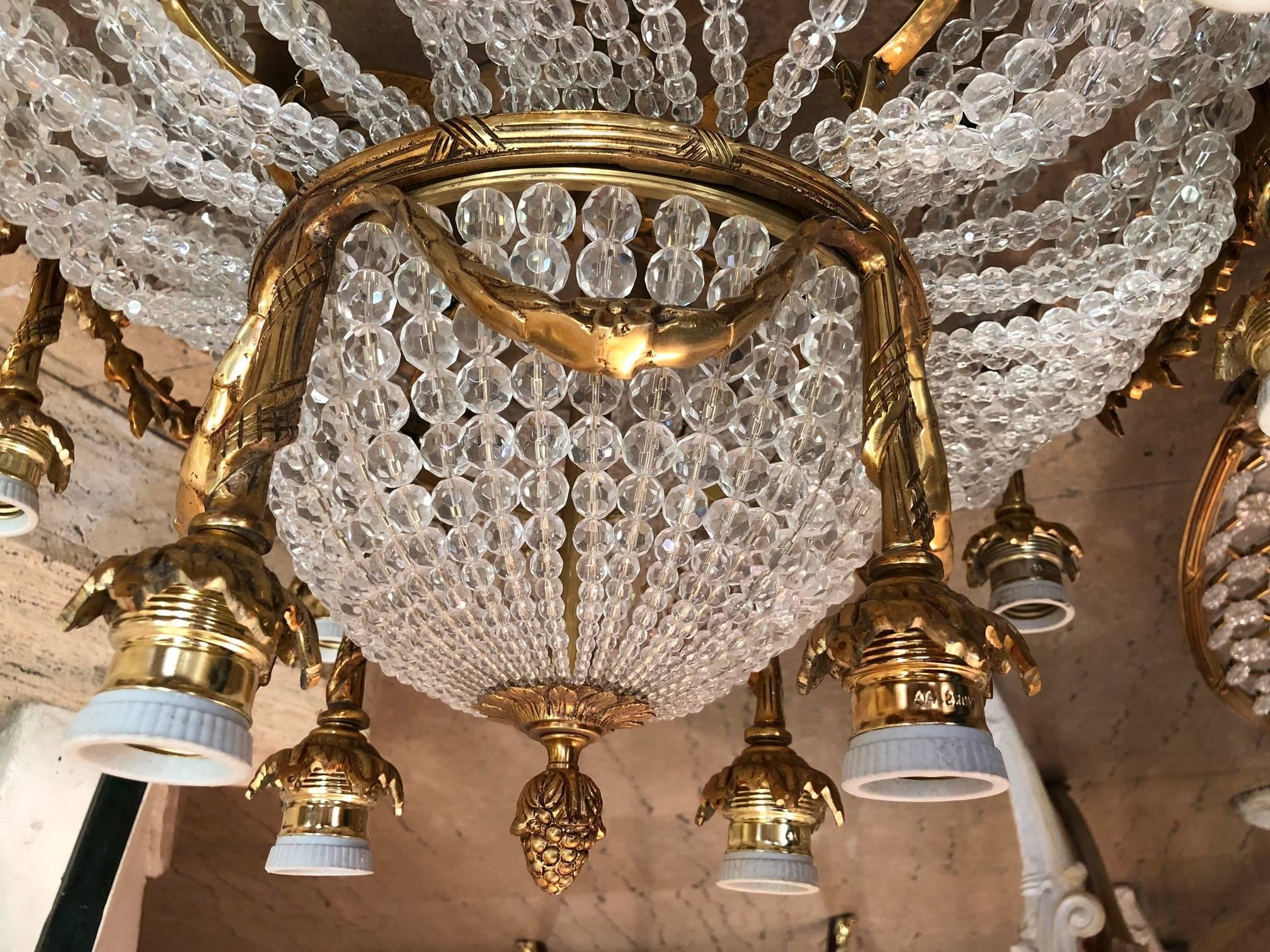 Plafoniere Deckenleuchte : Monumentalen louis seize stil runde wand deckenleuchte oder