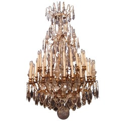 Monumental Louis XIV Period French Gilt Bronze and Crystal 45-lights Chandelier