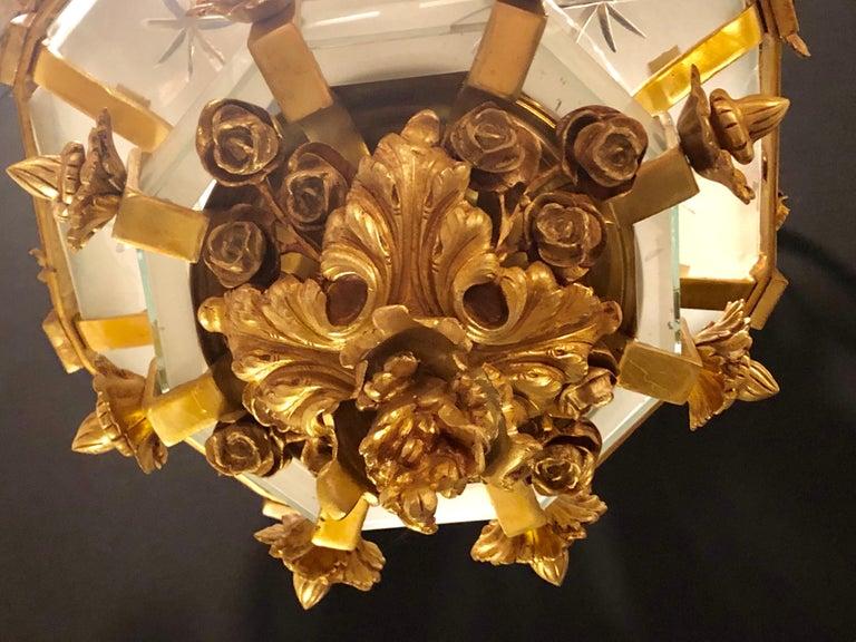 Monumental Louis XVI Style Dore Bronze Large Rams Head Lantern For Sale 10