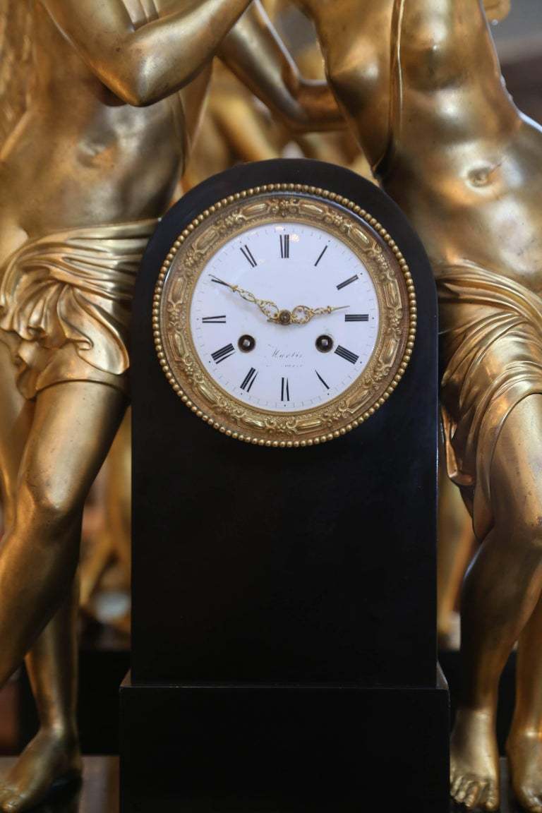 Amazing clock depicting the tale of Amor and Psyche which