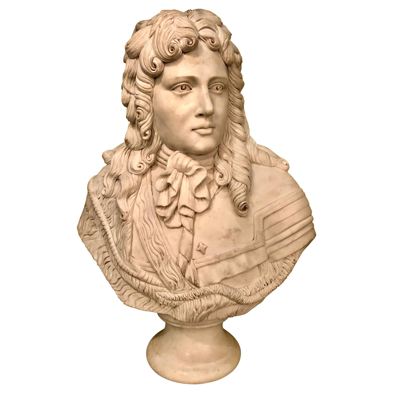 Monumental Marble Bust of a Nobel Gentleman