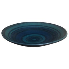 Monumental Mesa Blue Gulfstream Line Stoneware Bowl by Fong Chow for Glidden