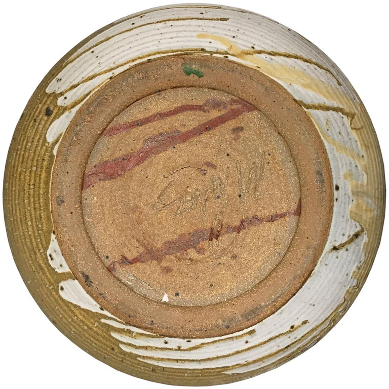 Monumental Mid-20th Century American Studio Pottery Bowl In Good Condition For Sale In Chicago, IL