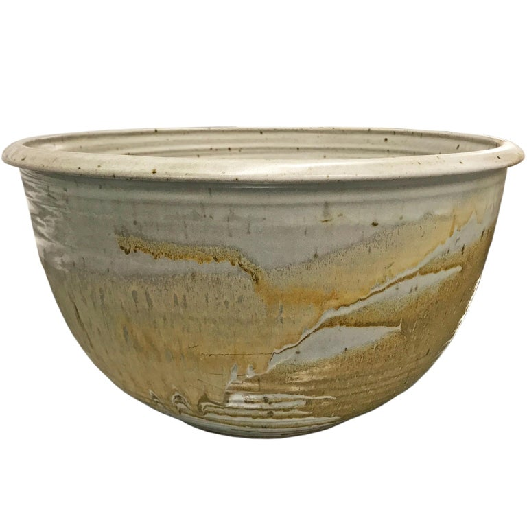 Monumental Mid-20th Century American Studio Pottery Bowl For Sale