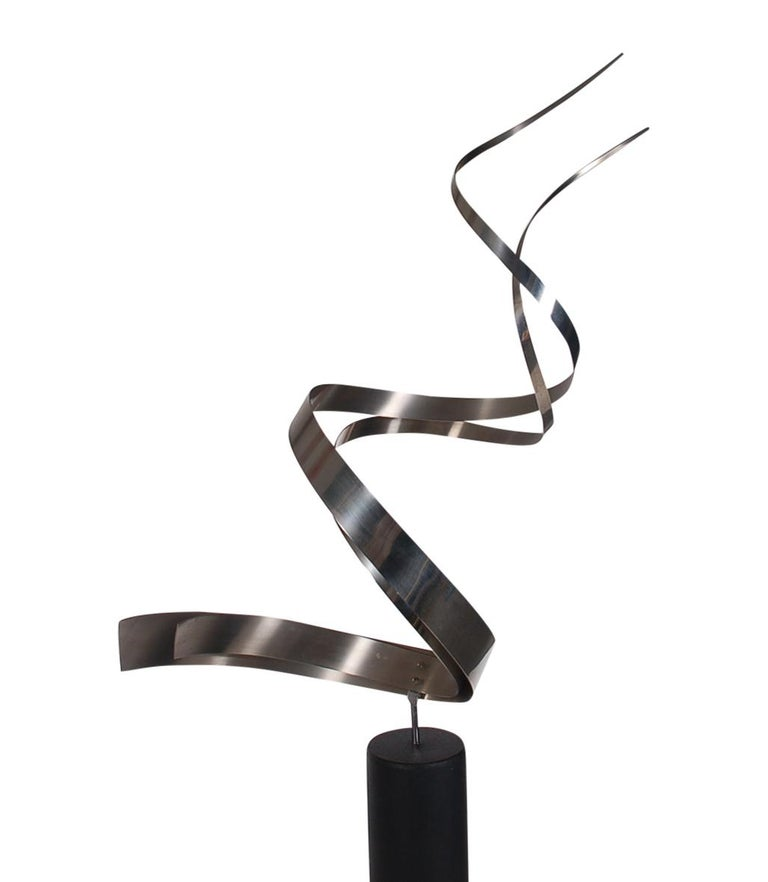 Mid-Century Modern Monumental Mid Century Abstract Modern Stainless Floor Sculpture by Curtis Jere For Sale