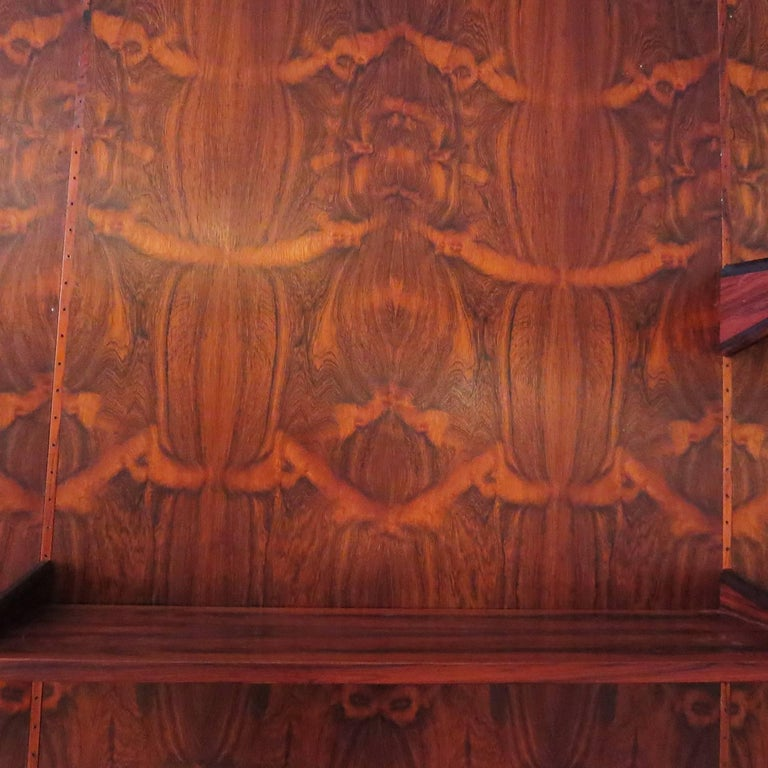 Monumental Midcentury Rosewood Wall Display Unit In Good Condition For Sale In Los Angeles, CA