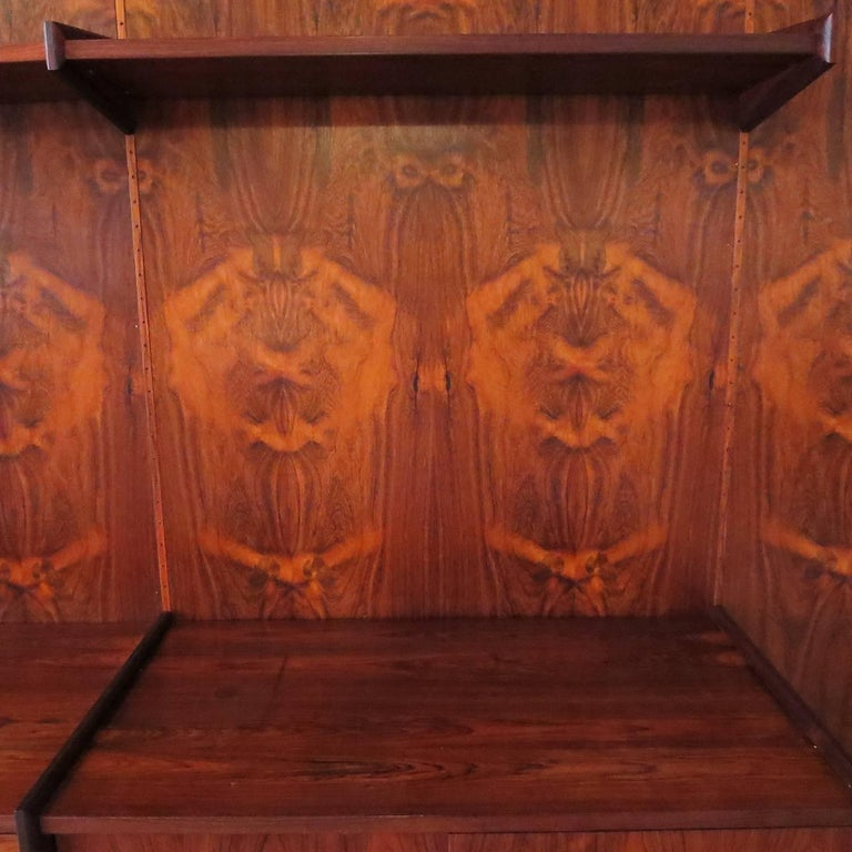 Mid-20th Century Monumental Midcentury Rosewood Wall Display Unit For Sale