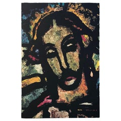 Monumental Midcentury Wool Tapestry after Georges Rouault
