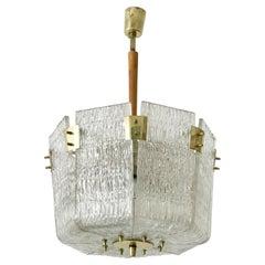 Monumental Midcentury Basket Chandelier or Pendant Lamp by J.T. Kalmar, 1950s