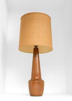 Monumental Midcentury Turned Wood Lamp