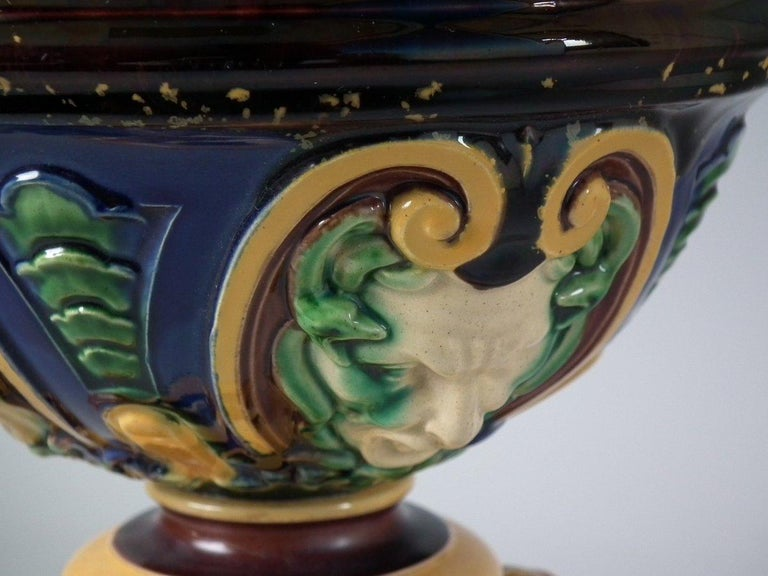 Monumental Minton Majolica Ewer and Stand For Sale 4