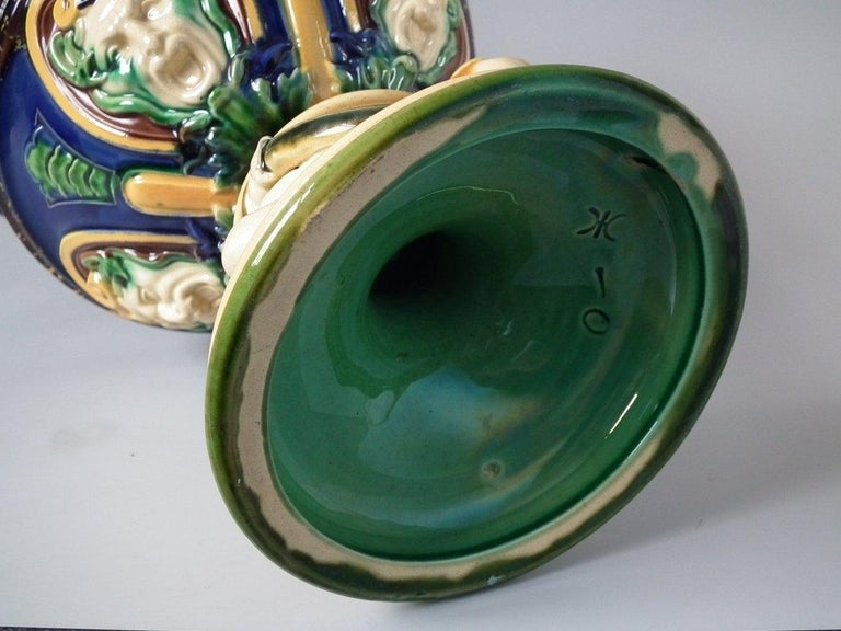 Monumental Minton Majolica Ewer and Stand For Sale 1