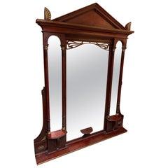 Monumental Mirror in Empire Style circa 1900 Mahogany