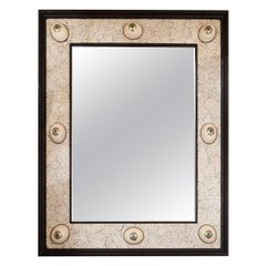 Monumental Mirror with Coquille D'oeuf Surround