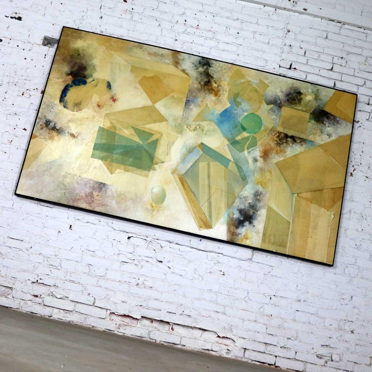 Monumental Mixed-Media Abstract 2D Art Piece Attributed to Richard Slimon, 1960s For Sale 3