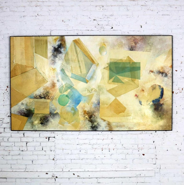 Monumental Mixed-Media Abstract 2D Art Piece Attributed to Richard Slimon, 1960s In Good Condition For Sale In Topeka, KS
