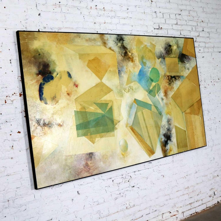 Canvas Monumental Mixed-Media Abstract 2D Art Piece Attributed to Richard Slimon, 1960s For Sale