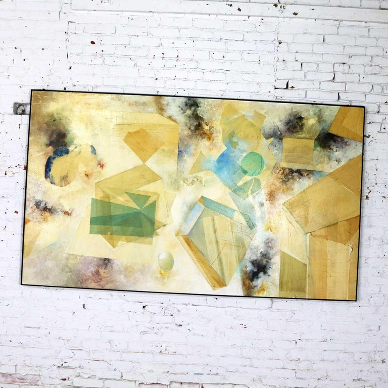 Monumental Mixed-Media Abstract 2D Art Piece Attributed to Richard Slimon, 1960s For Sale 1