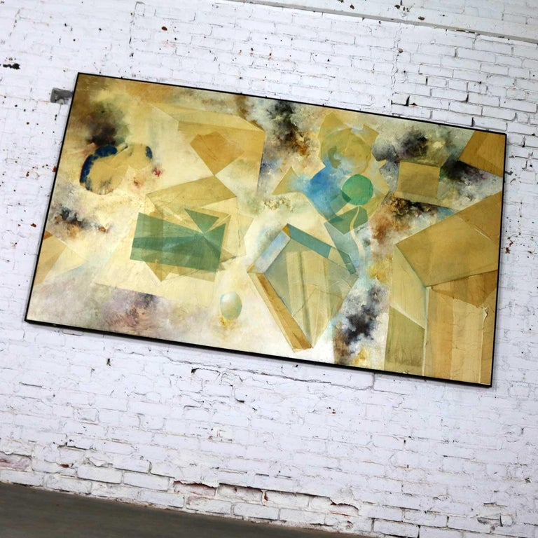 Monumental Mixed-Media Abstract 2D Art Piece Attributed to Richard Slimon, 1960s For Sale 2
